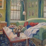 Interior with two lamps, 910x760, $800