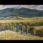 John's view Riverlea, Triptych, - Sold