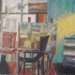Riverlea Studio with Cat, 1020 x 760, Oil on Canvas, $800