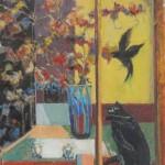 Bird at the Window, 760 x 610, Oil on Cotton, $600